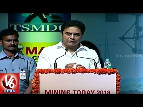 Minister KTR Speech At Mining Today 2018 International Conference | Hyderabad | V6 News
