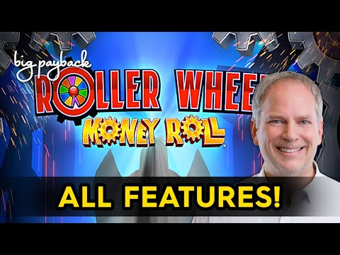 Roller Wheel Money Roll Slot - NICE SESSION, ALL FEATURES! - 동영상