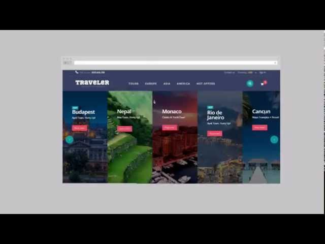 Traveler Prestashop 1.6 Responsive Theme
