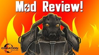 Fallout 4 Hellfire Power Armor Creation Club mod review!