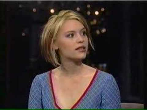 Claire Danes age 17 on Letterman 1996