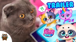 Luna the Cat Playing Little Kitty Town 😺 TutoTOONS Cartoons & Games for Kids