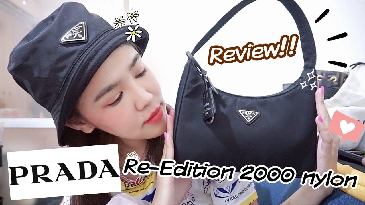 รีวิวกระเป๋า Prada Re-Edition 2000 nylon   Prada hobo bag