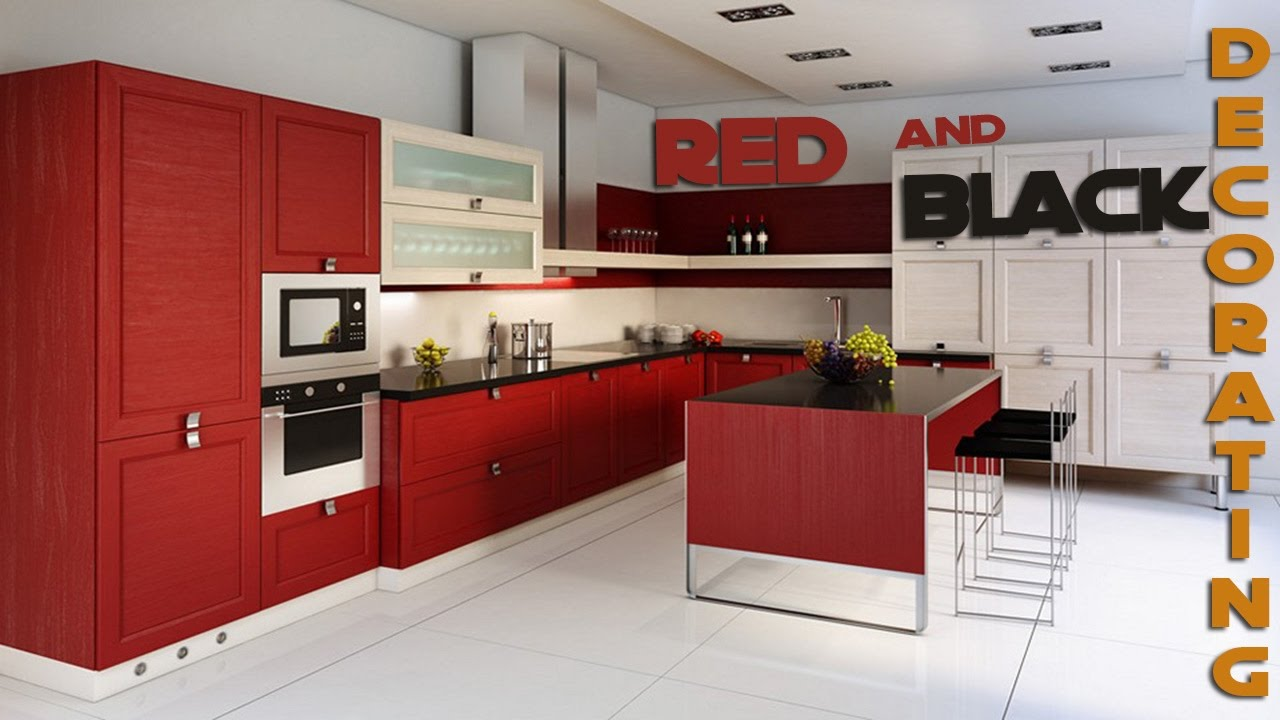 daily decor kitchen red and black decorating ideas youtube