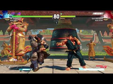 RYU vs Bison Punish on Headstop Follow up