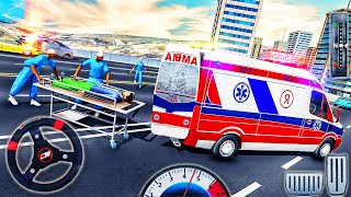 Rescue Ambulance Driver Simulator 2021-Emergency Hero City Van Drive-Android GamePlay