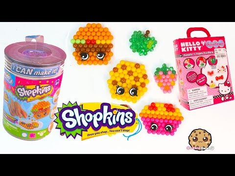 Shopkins I Can Make It Beados & Hello Kitty Sweets N Treat Aquabeads DIY Playsets - Video