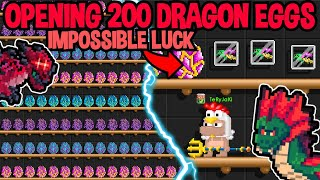 OPENING 200 DRAGON EGGS IN GROWTOPIA (IMPOSSIBLE LUCK)