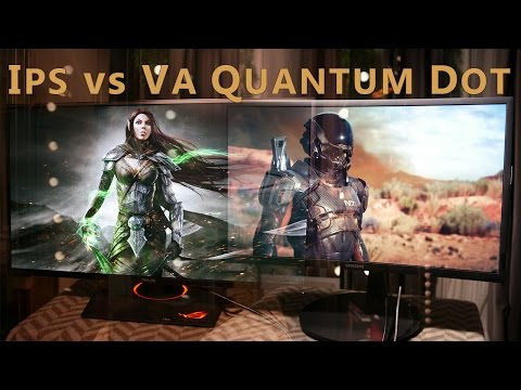 IPS vs Quantum Dot - IPS vs VA - (ENG SUB) Samsung CFG70 vs Asus PG297Q - Quantum Dot Benefit? YEP!