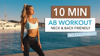 10 MIN AB WORKOUT - Back & Neck Friendly / No Equipment I Pamela Reif YouTube Videos