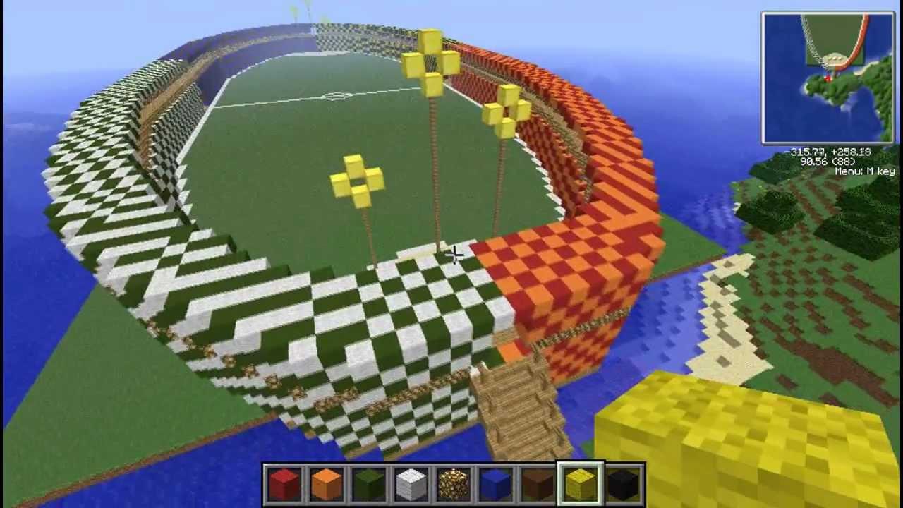 Hogwarts Quidditch Stadium Minecraft 1 Youtube