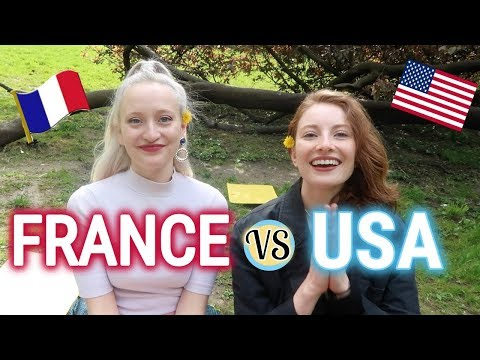 School in the USA vs FRANCE: Differences + culture shocks (FRENCH SUBTITLES)