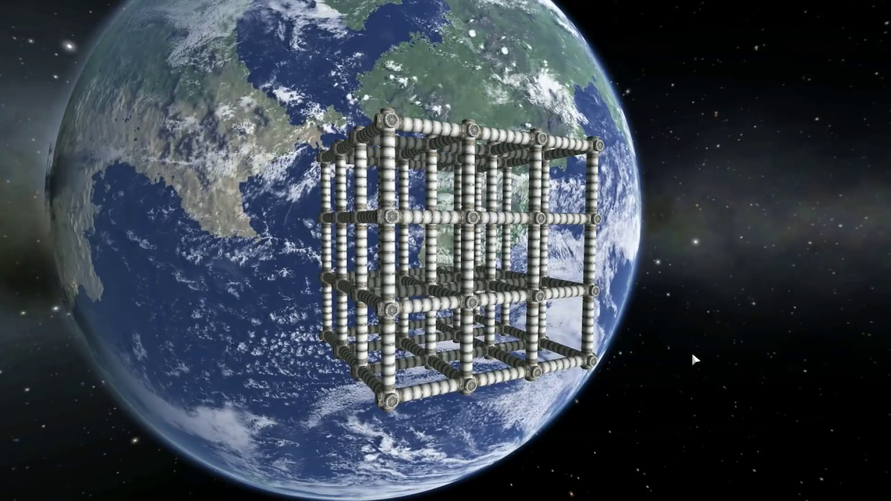 Cube Space Station But Bigger