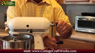 Kitchen Aid Hand Crank Conversion Mixer at CottageCraftworks.com