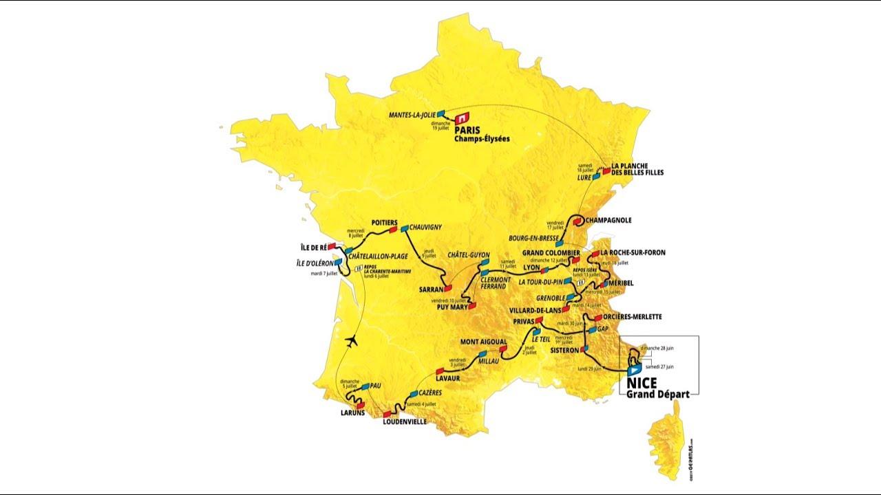 Tour De France 2020 Stages.2020 Tour De France Route Unveiled