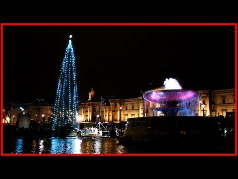 Trafalgar Square Christmas Tree lights switch on 2015