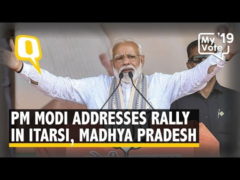 PM Modi Addresses a Rally in Itarsi, Madhya Pradesh