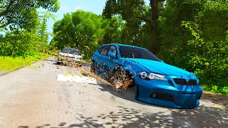 POLICE CHASES AND SPIKE STRIPS! - BeamNG Drive Police Pursuit Fun!