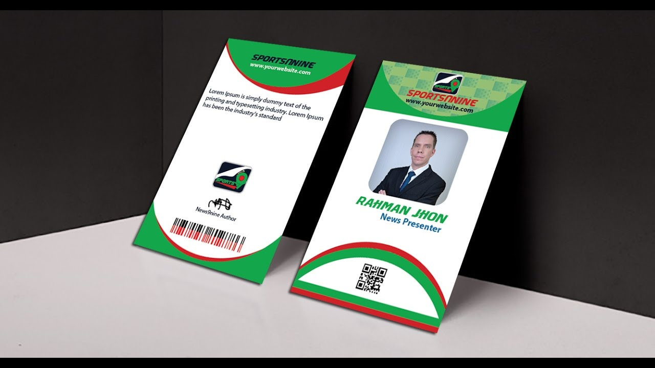 how to make professional business id card mock up in photoshop - Id In Design