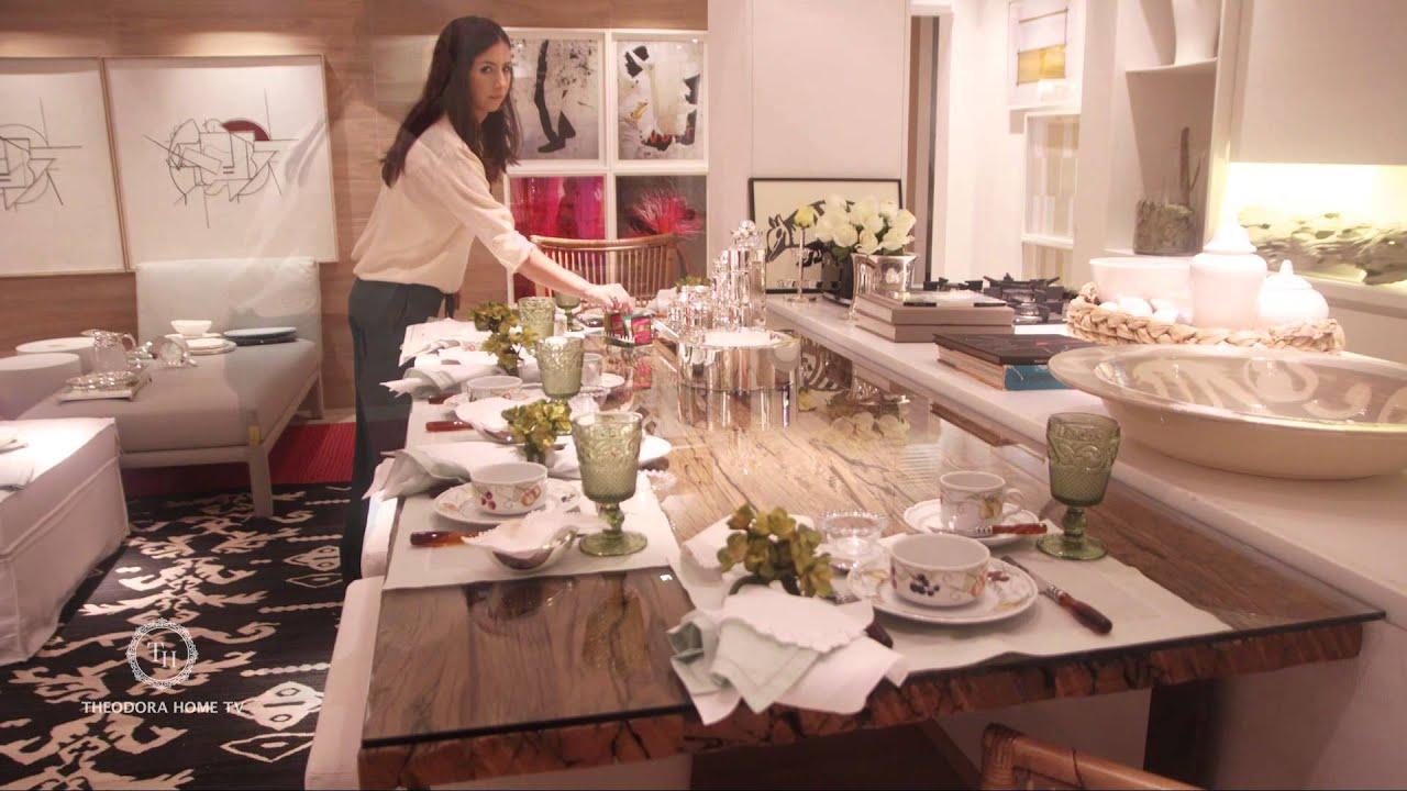 Montando uma mesa de Caf da Manh Coleo Les Fruits