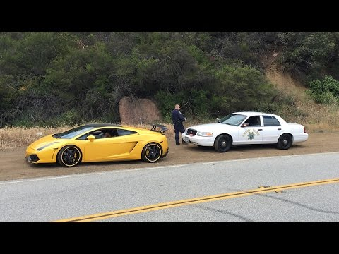 The CHP hates LOUD Lambos.  Especially if they shoot FLAMES!
