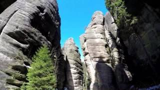 Die Weckelsdorfer Felsenstadt / Teplické skály in der tschechischen Republik