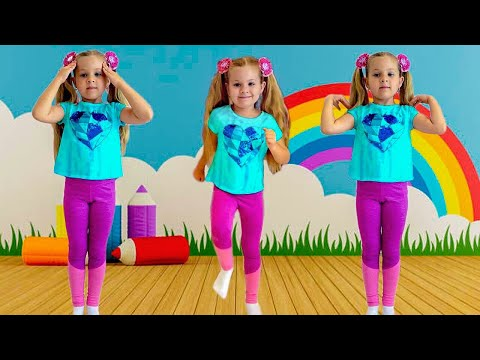 Diana Exercises And Learns The English Alphabet - Kids Learning Videos