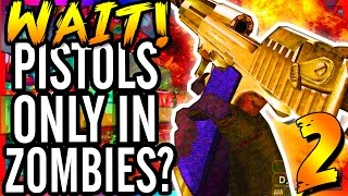 HOW ARE WE ALIVE?!? - Call of Duty WaW Defense Pistols Only Modded Custom Zombies Map Finale