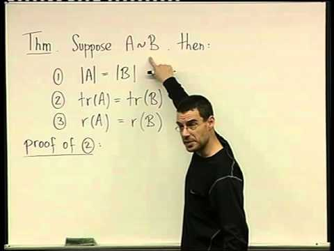 61 -  Properties of similar matrices