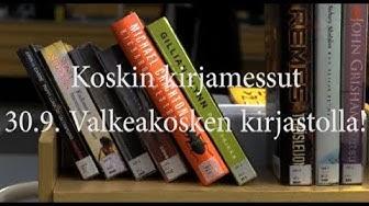 Koskin kirjamessut/ Valkeakosken kirjastolla!