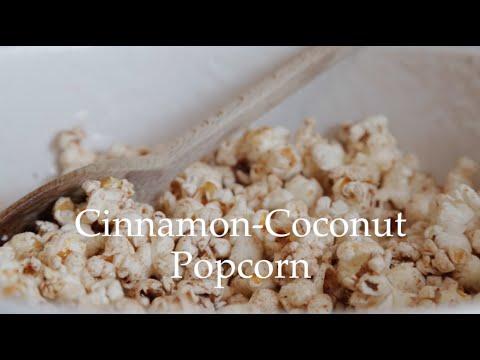 Cinnamon - Coconut Popcorn by Deliciously Ella