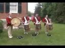 Old Guard Drumline Warming Up