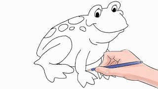 How to Draw a Frog Easy Step by Step