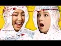 CONDIMENT BOTTLE FLIP CHALLENGE (Squad Vlogs)