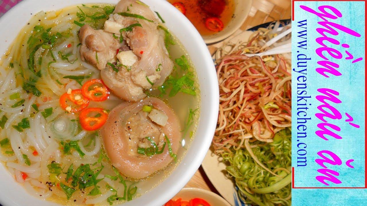 Cách Nấu BÚN GIÒ HEO Và Công Thức Làm Bún Trắng Dai Bất Bại By Duyen's Kitchen   Ghiền Nấu Ăn