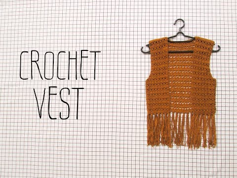CROCHET VEST BOHO STYLE |  Hướng Dẫn Móc áo Khoác Gile Tua Rua