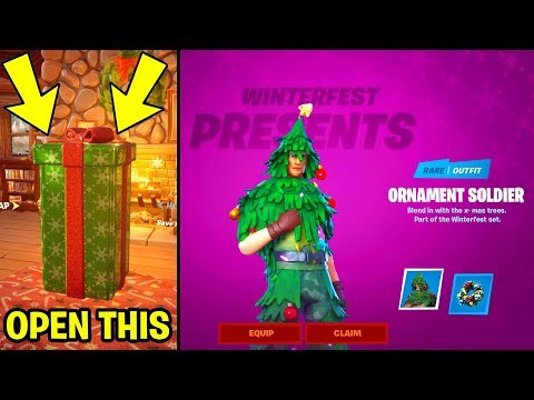 GET FREE SKINS In Fortnite *GIFT BOX REVEALED* WINTERFEST CHALLENGES & FREE REWARDS!