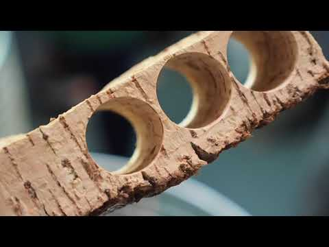 How wine corks are made, in 90 seconds!