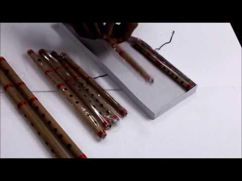 SG Musical - 8 Pc Bansuri Set, Bamboo Indian Flutes in Box(Sgmusical.com)(Flute Set)