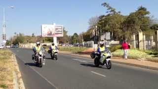President Obama South Africa June 2013 - Presidential Convoy Leaving St Davids