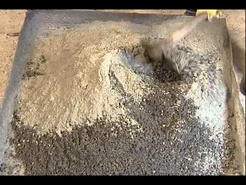 how to make concrete mix by hand