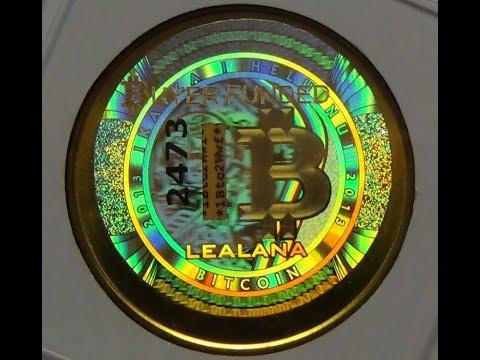 Lealana Bitcoin | 2013 Lealana .1 Brass Bitcoin | 1 Of 100 Ever Made!