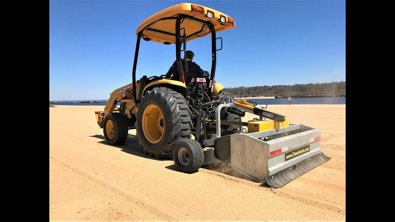 "Beach Cleaning | Heavy Duty Beach Cleaner | Sifting Sand Machine | 65"" processing-working width"