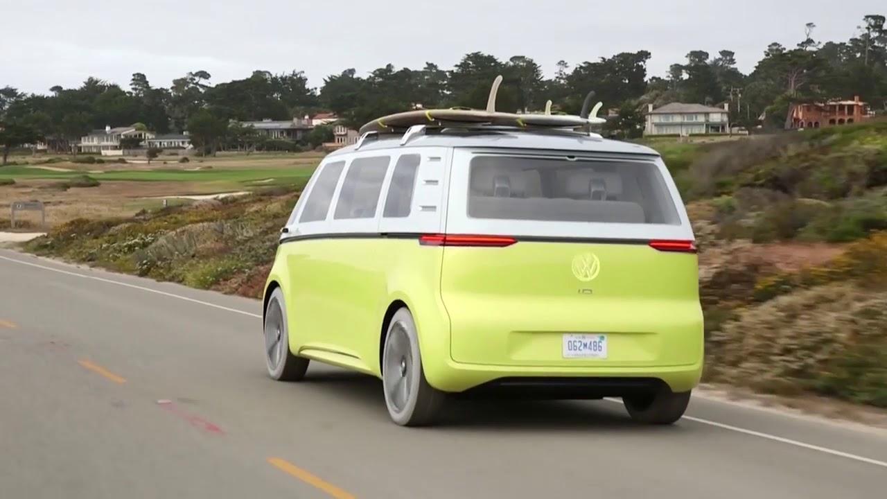 Volkswagen Electric Kombi Van I D Buzz Ev Concept Youtube