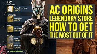 Assassin's Creed Origins Tips For LEGENDARY STORE (Assassin's Creed Origins Best Weapons  AC Origins