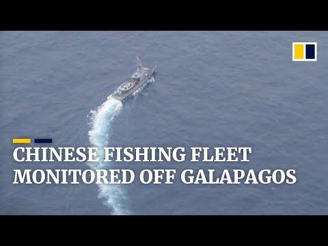 Ecuador's navy monitors hundreds of Chinese fishing boats near protected waters off Galapagos