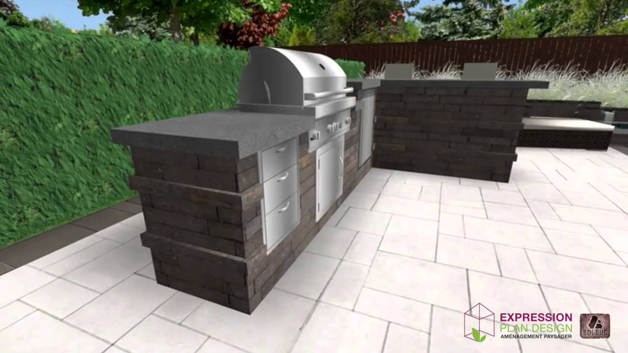 Am nagement d 39 un bbq 2 youtube for Amenagement bbq exterieur