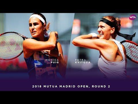 Monica Puig vs. Petra Kvitova | 2018 Mutua Madrid Open Second Round | WTA Highlights