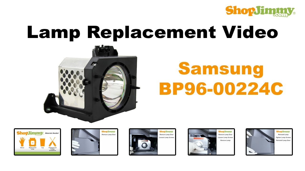 Samsung HLN ST Lamp BP96 00224C Lamp Replacement Guide For DLP TV   YouTube