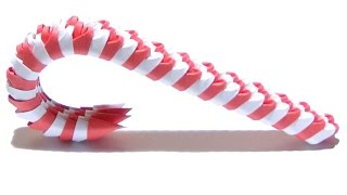 (Christmas) How To Make A 3D Origami Candy Cane